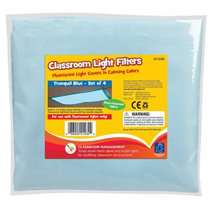 Fluorescent Light Filters (Tranquil Blue) Set Of 4