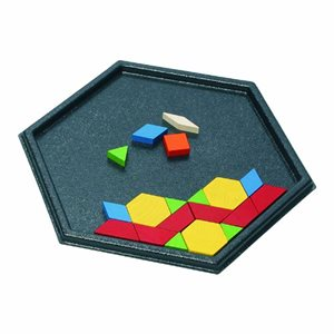 Hexagon Pattern Block Tray