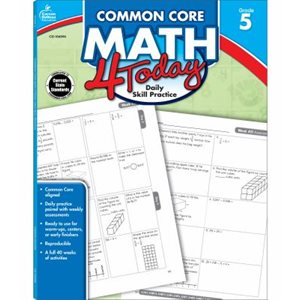 Common Core Math 4 Today, Grade 5 Daily Skill Practice