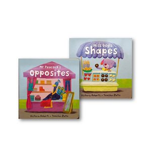 Miss Dog's Shapes / Mr. Peacock's Opposites (2 pack)