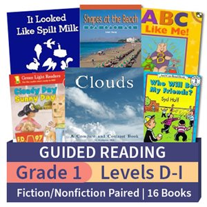 Guided Reading Collection: Grade 1 Fiction / Nonfiction Paired Studies (16 books)