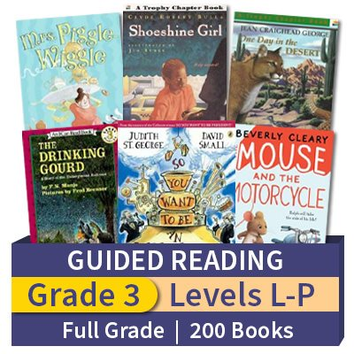 Guided Reading Collection Grade 3 Full 200 Books