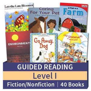 Guided Reading Collection: Level I Fiction and Nonfiction Combo (40 books)