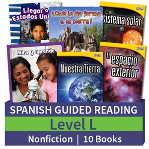 Guided Reading Collection: Spanish Level L Nonfiction (10 Books)