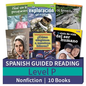 Guided Reading Collection: Spanish Level P Nonfiction (10 Books)