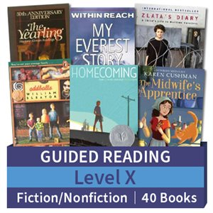 Guided Reading Collection: Level X Fiction and Nonfiction Combo (40 books)