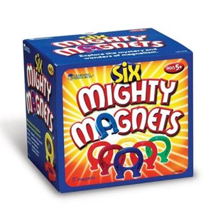 "Primary Science 5"" Mighty Magnets, Set of 6"