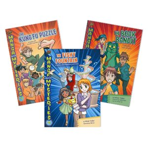 Manga Math Mysteries (6 Book Set)