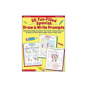 50 Fun-Filled Spanish Draw and Write Prompts (Enhanced eBook) (eBook)
