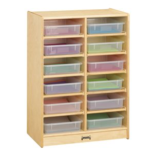 12 Paper-Tray Mobile Storage - with Clear Paper-Trays