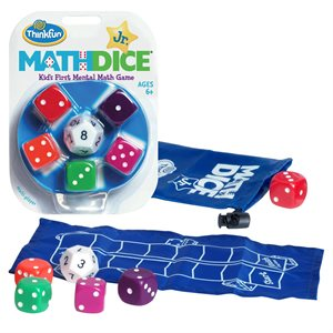 Math Dice Jr. Kid's First Mental Math Game