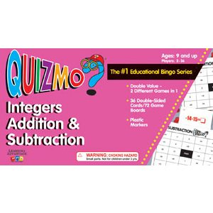 Quizmo Integers Addition & Subtraction