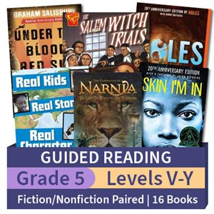Guided Reading Collection: Grade 5 Fiction / Nonfiction Paired Studies (16 books)