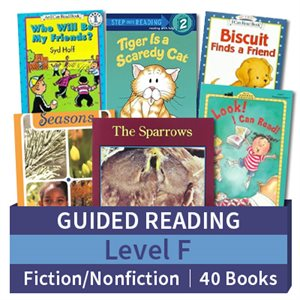 Guided Reading Collection: Level F Fiction and Nonfiction Combo (40 books)