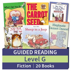 Guided Reading Collection: Level G Fiction (20 books)