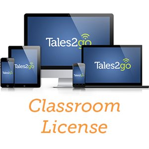 Tales2go-Subscription Audiobooks Classroom License for K12 schools (35 licenses)