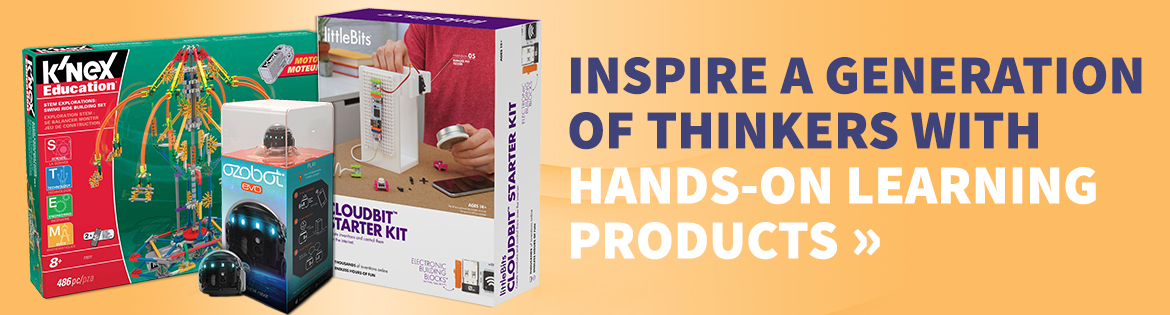 Inspire a generation of thinkers with hands-on learning products