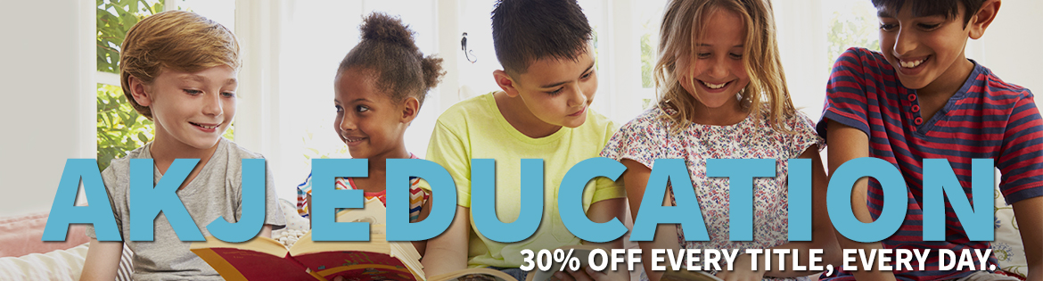 AKJ Education offers 30 percent off every title, every day